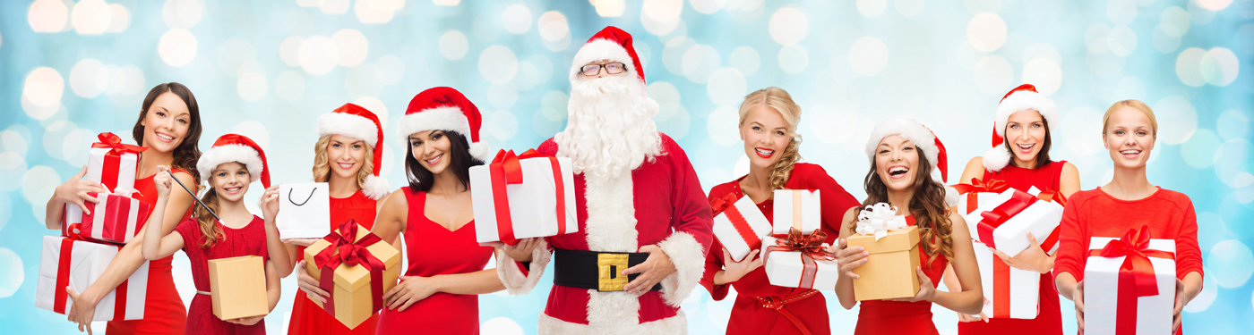 people dressed as Santa Claus